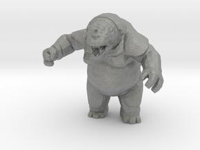 Troll Ogre 55mm DnD miniature fantasy games rpg in Gray PA12