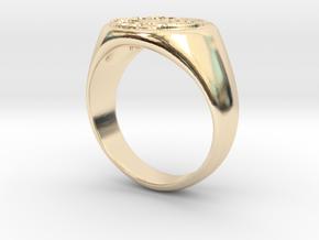 Size 9 Targaryen Ring in 14K Yellow Gold