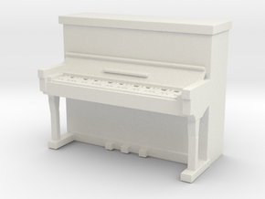 Piano 1/43 in White Natural Versatile Plastic
