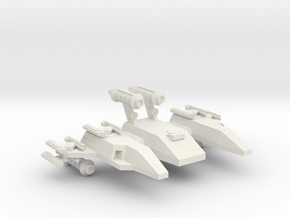 3125 Scale LDR New Division Control Ship CVN in White Natural Versatile Plastic
