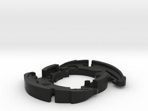 Dranzer F attack ring in Black Natural Versatile Plastic