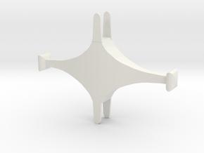 IPS Shamshir Cross in White Natural Versatile Plastic