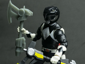 MMPR Heroes Black Accessory - Power Axe in White Natural Versatile Plastic
