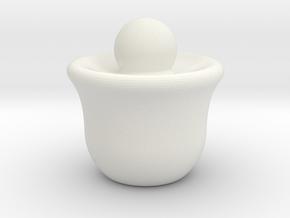 (SMALL) Minimal Chess Queen in White Natural Versatile Plastic