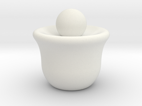 Minimal Chess Queen in White Natural Versatile Plastic