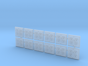 1:12 Outlet Quad 12pc in Smooth Fine Detail Plastic