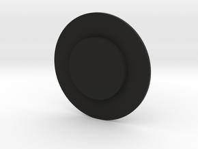Capstan button cover  in Black Natural Versatile Plastic