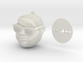 Stilyzed Rapper Pendant in White Natural Versatile Plastic