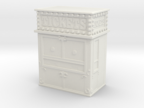 Carnival Ticket Booth 1/100 in White Natural Versatile Plastic