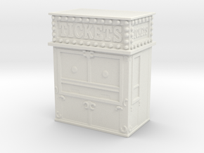 Carnival Ticket Booth 1/87 in White Natural Versatile Plastic