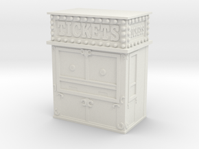 Carnival Ticket Booth 1/35 in White Natural Versatile Plastic
