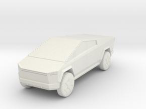 Tesla Cybertruck 1/87 in White Natural Versatile Plastic