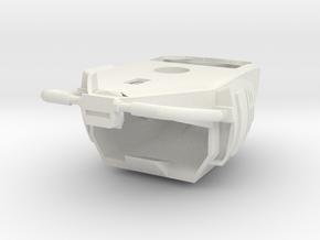Omega Robot Helmet in White Natural Versatile Plastic