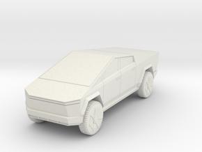 Tesla Cybertruck 1/43 in White Natural Versatile Plastic