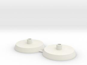 3M Peltor Ear muff Helmet mounts in White Natural Versatile Plastic
