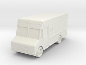 UPS Delivery Van 1/100 in White Natural Versatile Plastic