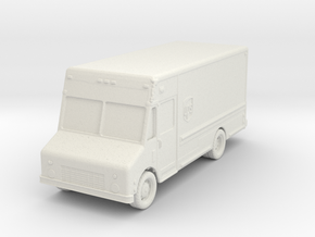 UPS Delivery Van 1/87 in White Natural Versatile Plastic
