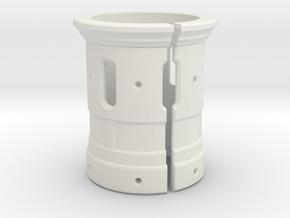 Emitter Shroud - Titan in White Natural Versatile Plastic