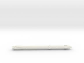 1:700 Falcon 9 & Crew Dragon in White Natural Versatile Plastic