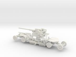 1/87 12.8 cm Flak 40 trailer in White Natural Versatile Plastic