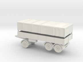 1/87 7 ton trailer 3 axis Wehrmacht in White Natural Versatile Plastic