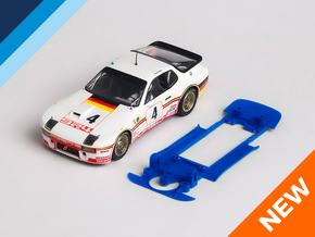 1/32 Falcon Porsche 924 Chassis for Slot.it IL pod in White Natural Versatile Plastic