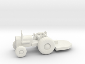 HO Scale Tractor with Bushhog in White Natural Versatile Plastic