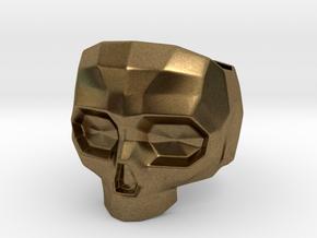 Lapidated Skull - Size 10 (inner diameter = 19.76  in Natural Bronze