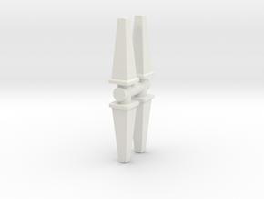 Wet Floor Cone (x4) 1/43 in White Natural Versatile Plastic