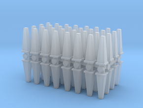 Wet Floor Cone (x64) 1/285 in Smooth Fine Detail Plastic