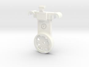 Custom Flare Varia Saddle Rail Mount in White Processed Versatile Plastic