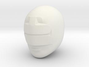 Zeo Yellow Helmet LC in White Natural Versatile Plastic