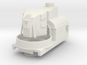 gun wagon Austro-Hungarian Armoured Trains ho in White Natural Versatile Plastic
