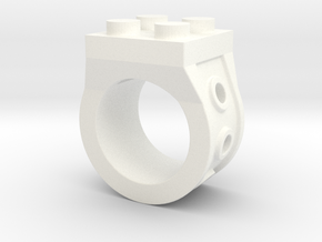Brick 4 Stud Ring Type 2 - Size 5  in White Processed Versatile Plastic