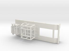1/50th Oilfield Heavy Haul Winch Truck in White Natural Versatile Plastic