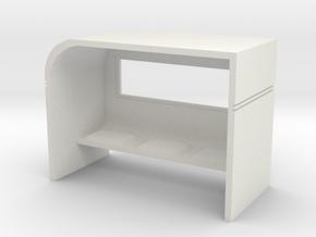 Modern Bus Shelter 1/87 in White Natural Versatile Plastic