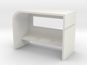 Modern Bus Shelter 1/72 in White Natural Versatile Plastic
