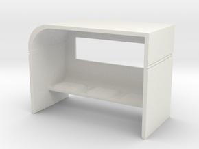 Modern Bus Shelter 1/120 in White Natural Versatile Plastic