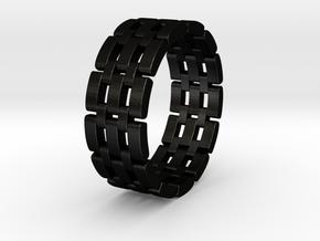 Watara - Ring in Matte Black Steel: 6 / 51.5