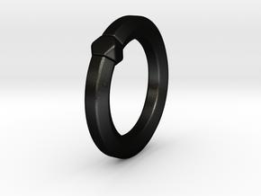 Hea - Ring in Matte Black Steel: 6 / 51.5
