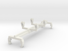 Straddle Carrier Spreader N scale in White Natural Versatile Plastic