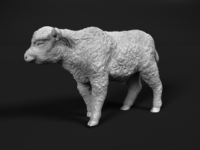 Highland Cattle 1:48 Walking Calf in Smooth Fine Detail Plastic