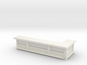 Bar Counter (right corner) 1/64 in White Natural Versatile Plastic