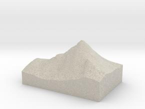 Model of Bietschhorn in Natural Sandstone