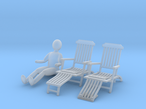 deck chair ergonomic 1to100 up down p02 man in Smooth Fine Detail Plastic