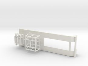 1/50th Heavy Haul Double Winch Triaxle Flatbed in White Natural Versatile Plastic