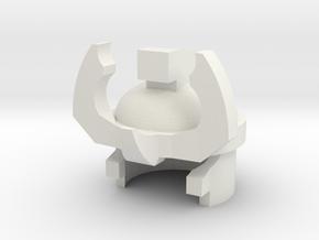 A3 Robo helmet in White Natural Versatile Plastic