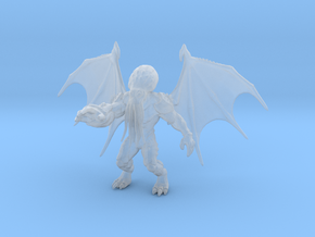 Cthulhu kaiju monster 70mm miniature game fantasy in Smooth Fine Detail Plastic