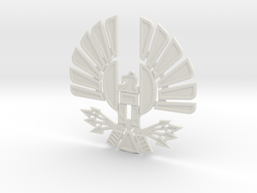 'Mockingjay' Panem Sigil Pendant for neclace in White Natural Versatile Plastic