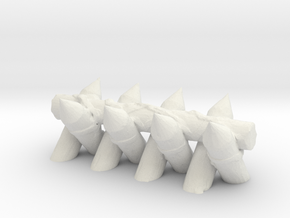 Spiked Barricade 1/76 in White Natural Versatile Plastic
